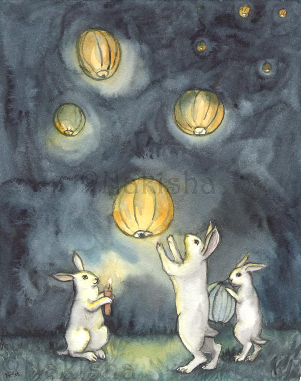 Sky Lanterns by Nakisha Vanderhoeven.
