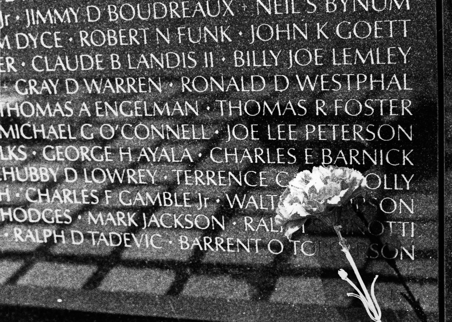 Martin Burns - Vietnam War Memorial: Names