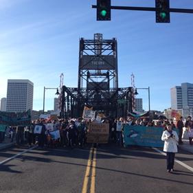 NWDCR March at the Port of Tacoma (Photo Credit: Joseph C Denton)