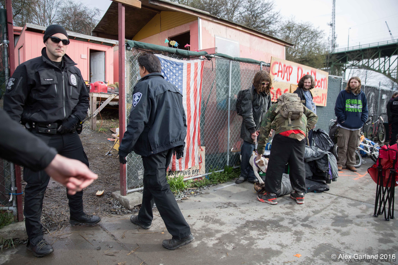 Camp Dearborn Eviction (Photo: Alex Garland)