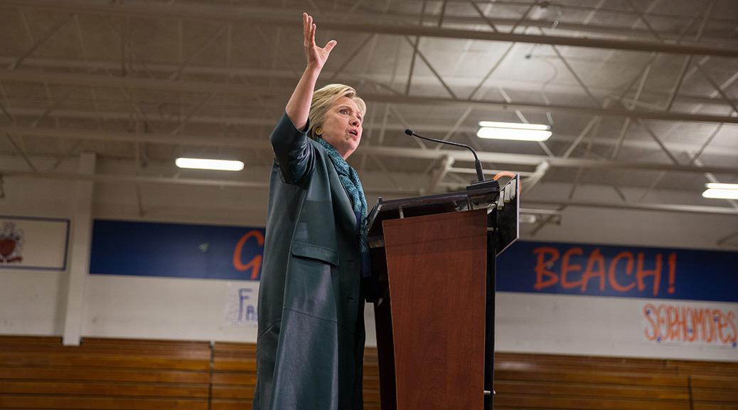 Hillary Clinton at Rainier Beach High School (Photo by Alex Garland)