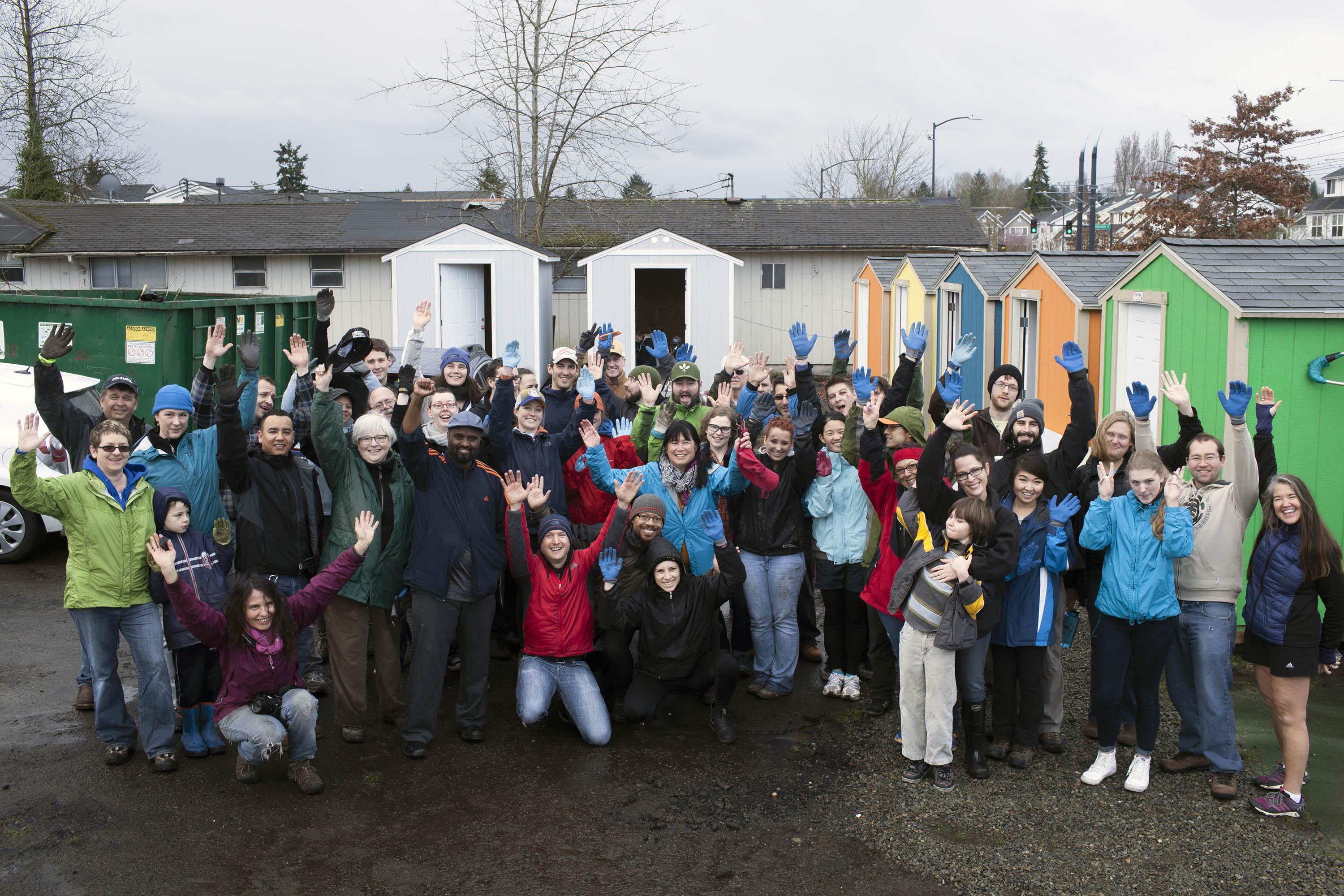 Construction begins on homeless encampment in Seattle's Rainier Valley