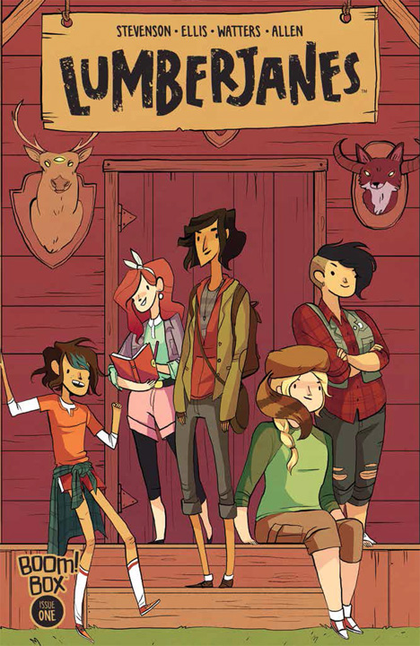 "Cover of ""Lumberjanes"", created by Shannon Watters, Grace Ellis, Brooke A. Allen and Noelle Stevenson"