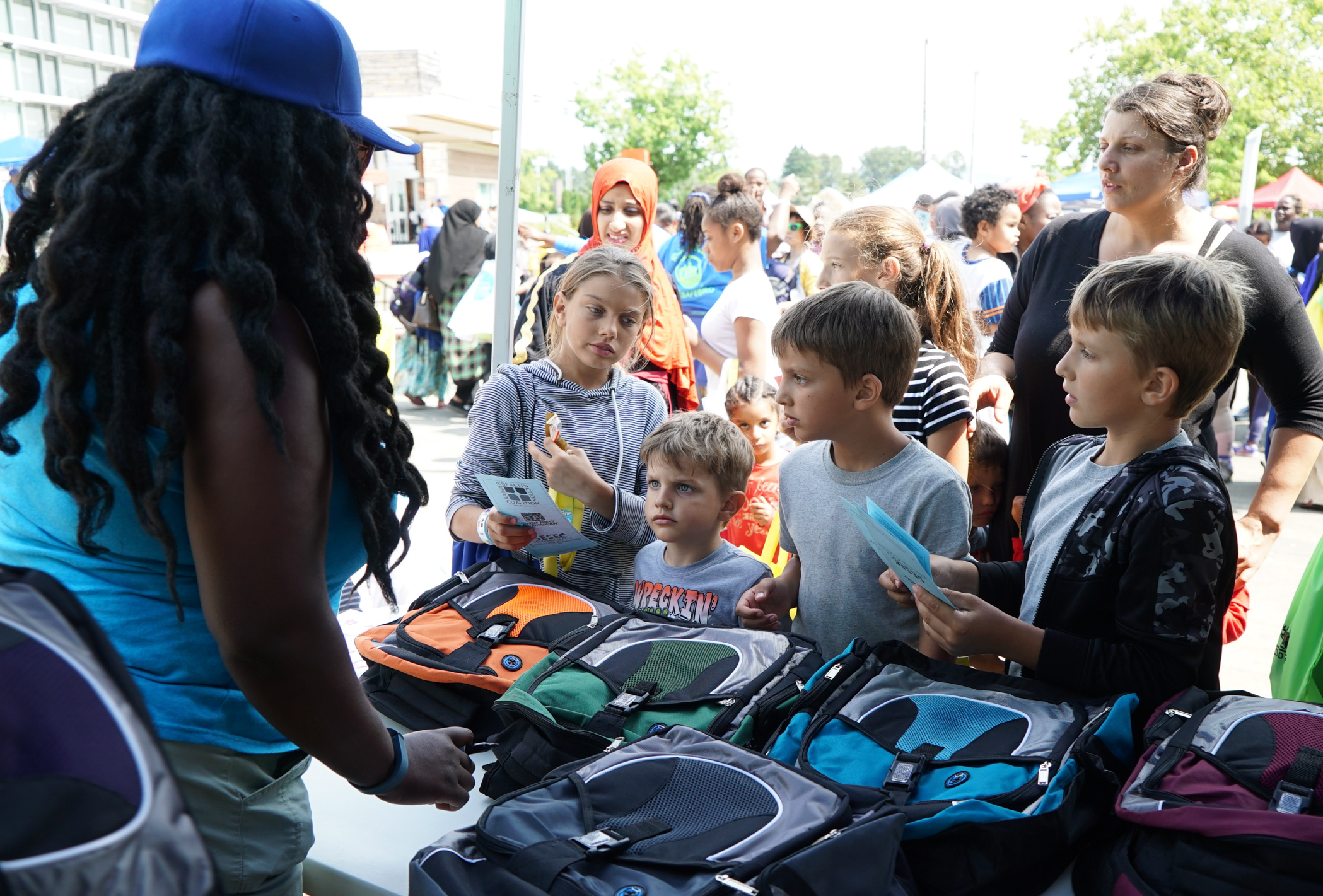 Back Pack Give Away 7-1
