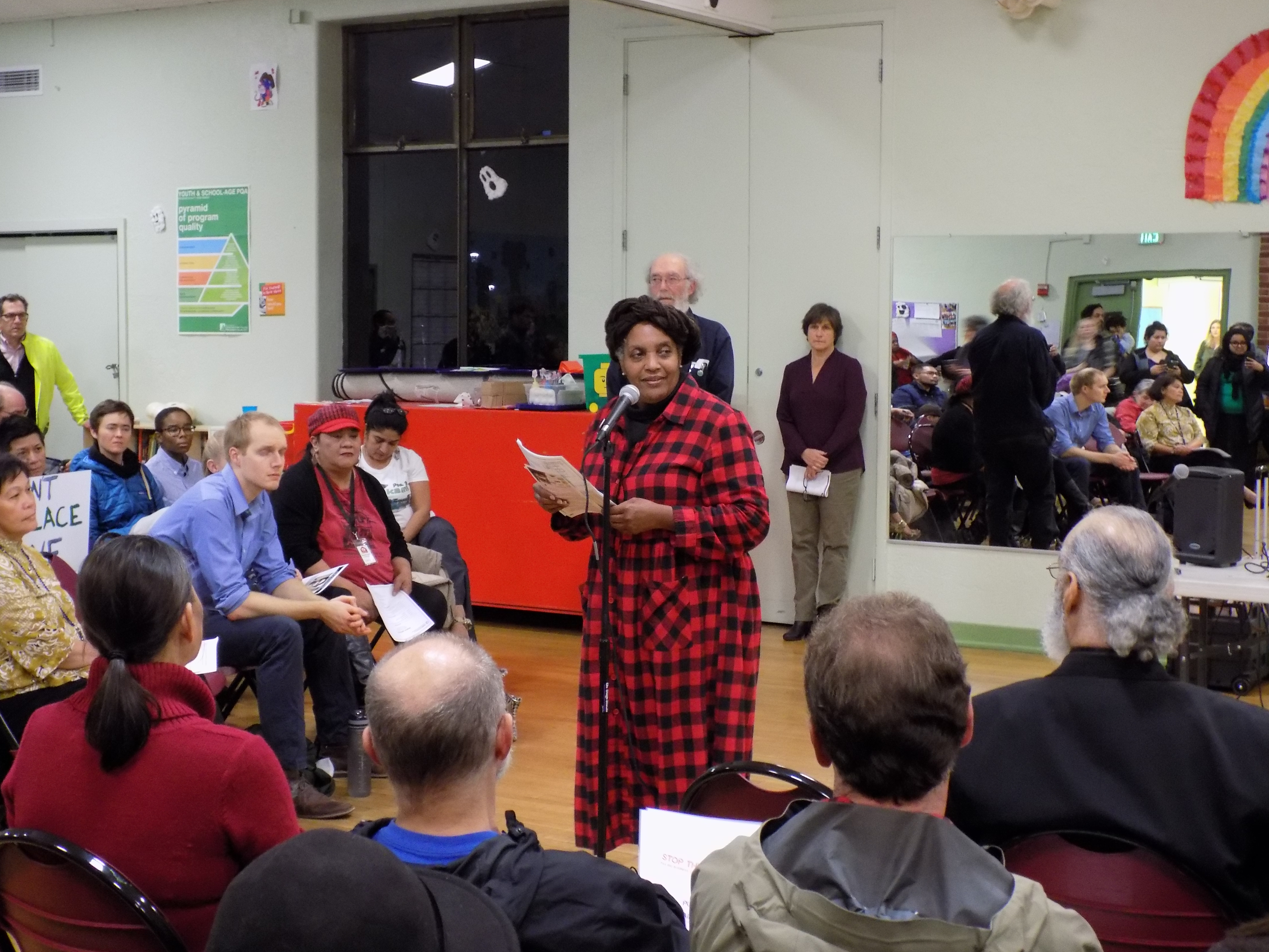 """Beacon Hill Community Rallies to Denounce Esther """"Little Dove"""" John's Displacement"""