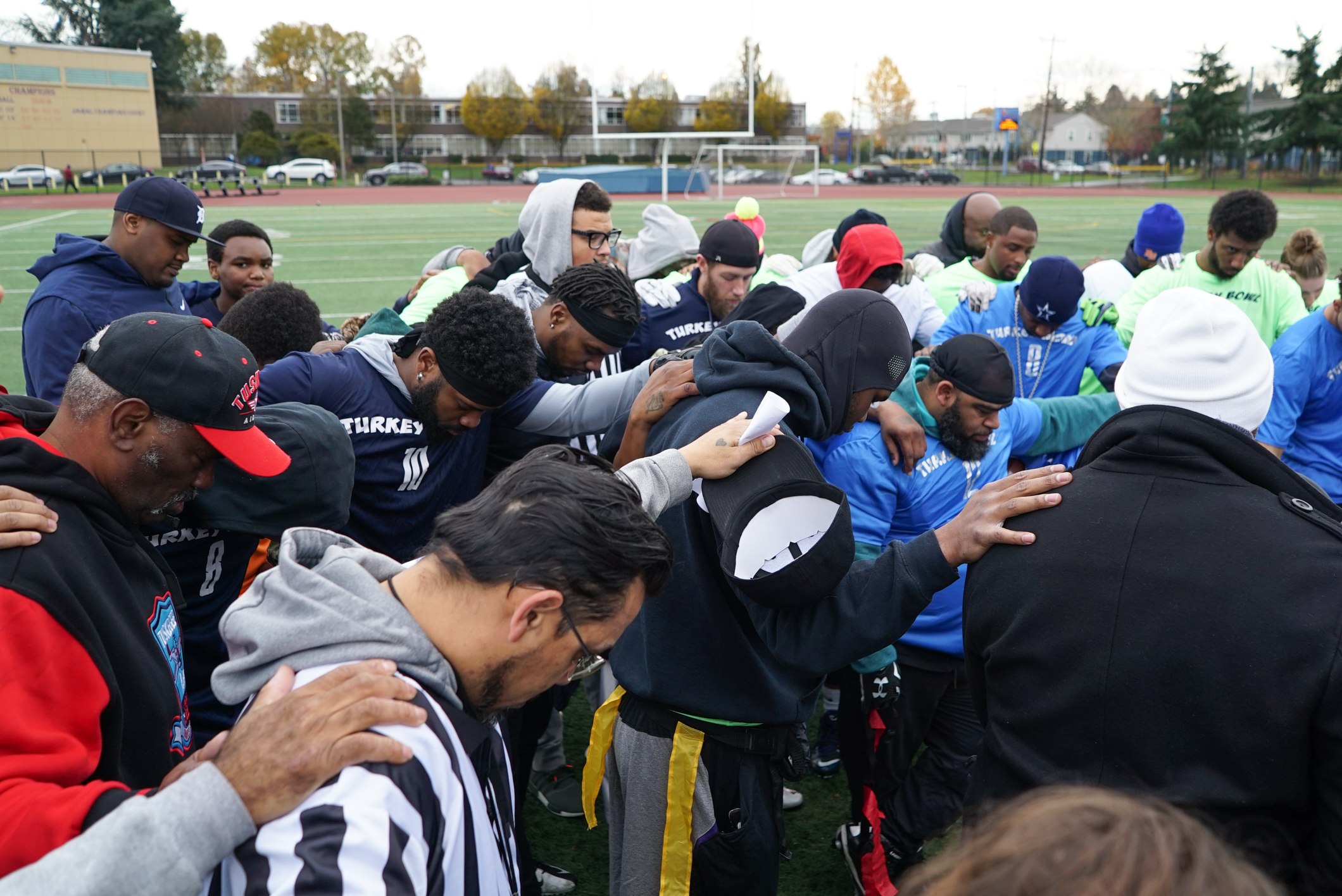 Turkey Bowl prayer -1