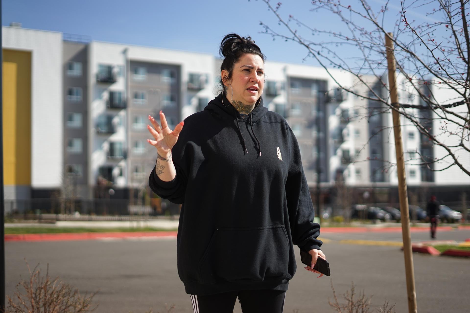 Activist Rita Aronson poses for a portrit in White Center, WA