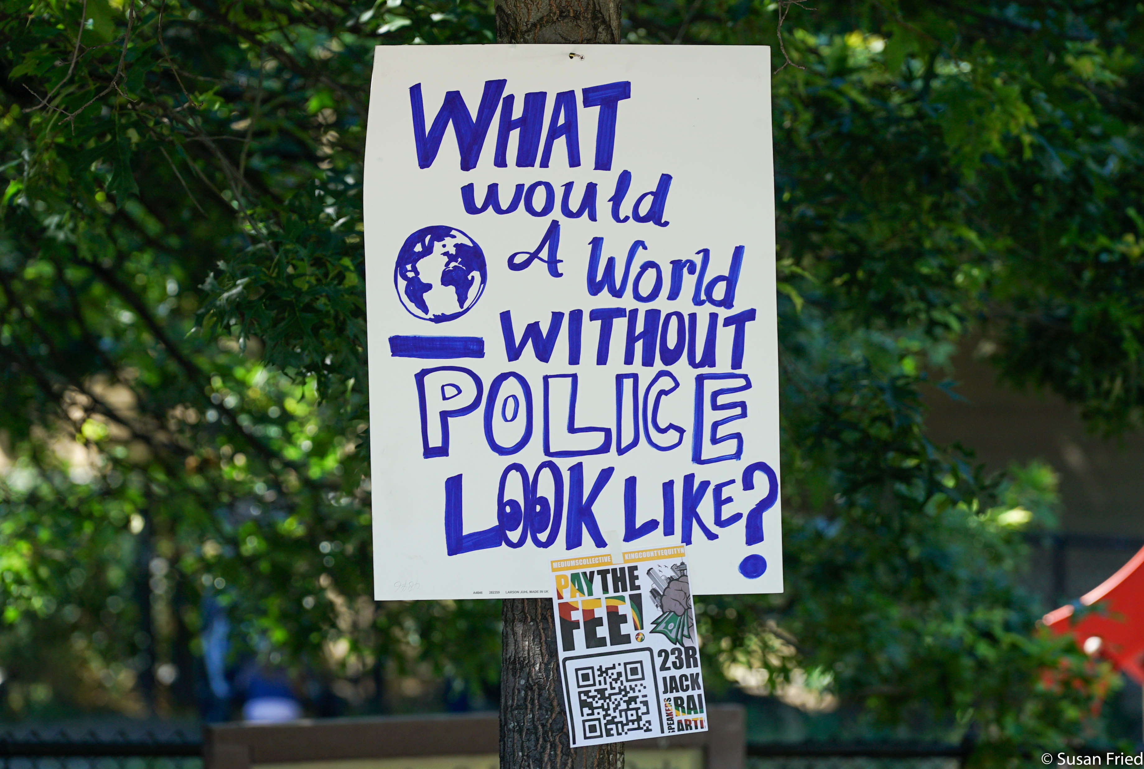 Pay the Fee-world without police