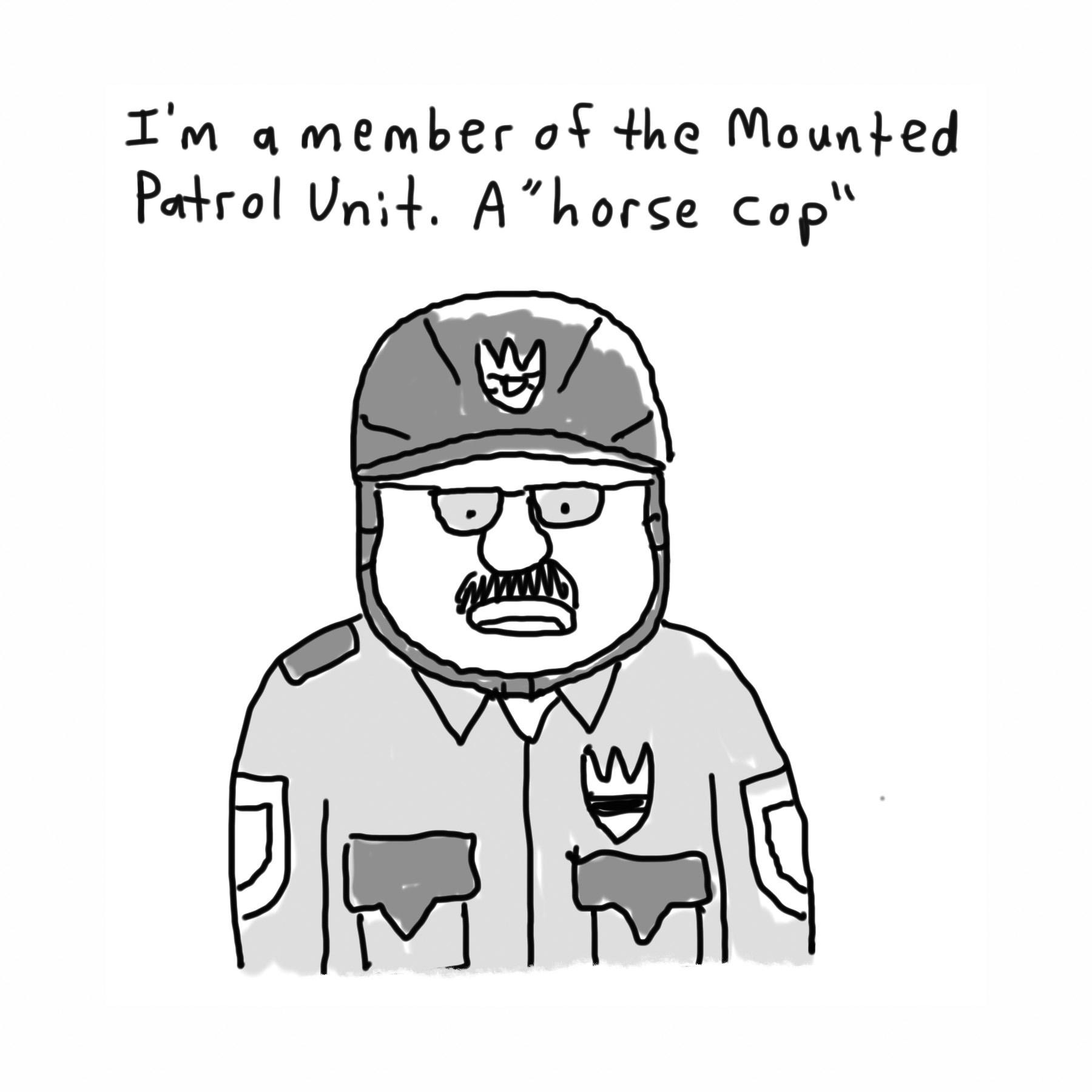 1horse cop